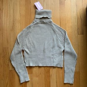 Stone Co Ord Knitted Roll Neck Sweater —Sz US 2/4